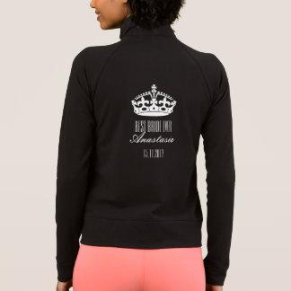 Crown Best Bride Ever Name Date Long Sleeve Jacket