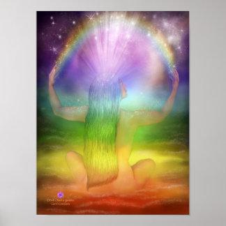 Crown Chakra Goddess Art Poster/Print Poster