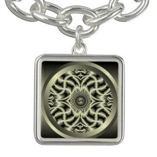 Crown Chakra Mandala Charm Bracelet