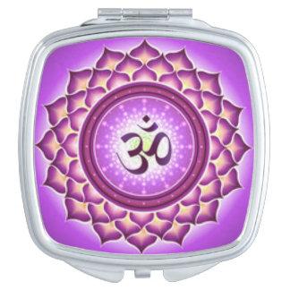 Crown Chakra Pattern Design Makeup Mirrors