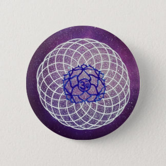 crown chakra vibration 2 inch round button