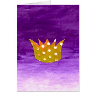 Crown Christmas Card