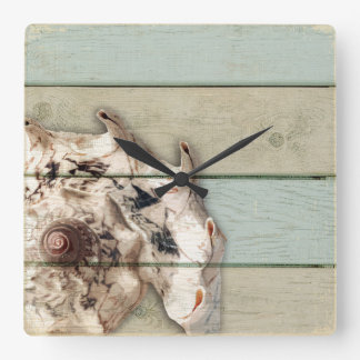 Crown Conch Square Wall Clock