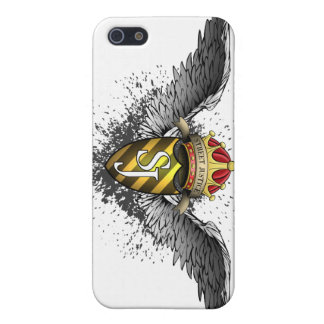 Crown, Crest and Wings Emblem by Street Justice iPhone 5/5S Cases