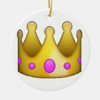 Crown - Emoji Ceramic Ornament