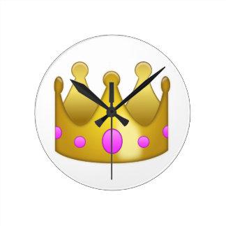 Crown Emoji Round Clock