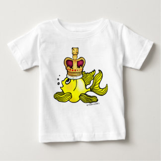 Crown Fish ~ funny cute royal monarch cartoon Baby T-Shirt