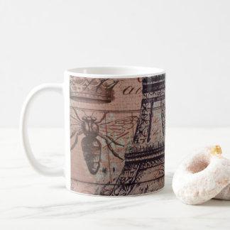 crown french bee butterfly Paris Eiffel Tower Coffee Mug