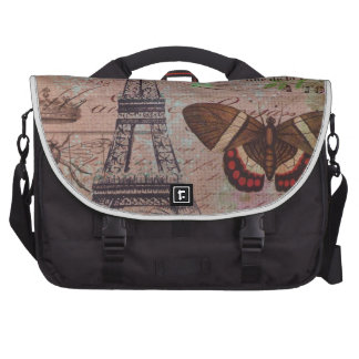 crown french bee butterfly Paris Eiffel Tower Commuter Bag