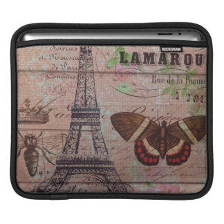 crown french bee butterfly Paris Eiffel Tower Sleeve For iPads
