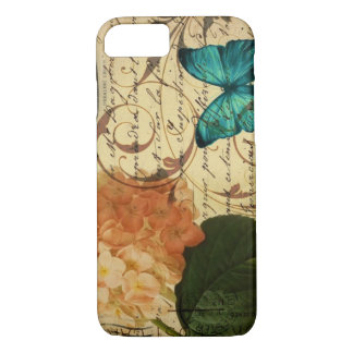 crown French botanical art butterfly hydrangea Case-Mate iPhone Case