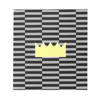 Crown - gray and black strips. notepad