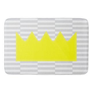Crown - gray strips. bath mat