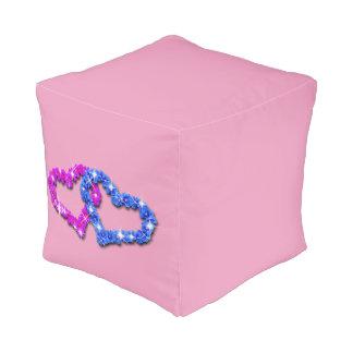 Crown heart love pouf