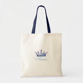 Crown in Blue Tote Bag