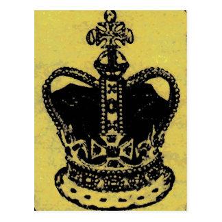 crown jewels aged postcard