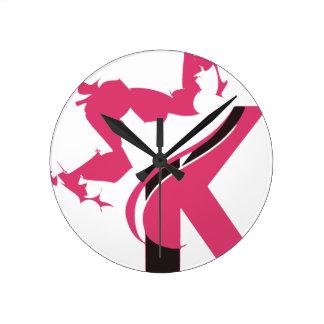 Crown K Logo Design BMI Round Clock