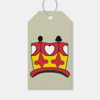 CROWN KIDS CARTOON GIFT TAG Matte RED Pack Of Gift Tags