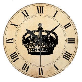 Crown Large Clock