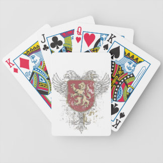 crown lion and the mark bicycle playing cards