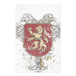 crown lion and the mark stationery paper