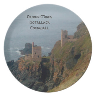 Crown Mines Botallack Cornwall England Party Plate
