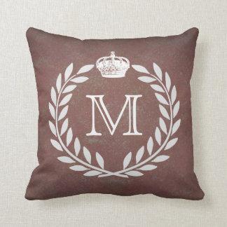Crown Monogram Throw Pillow