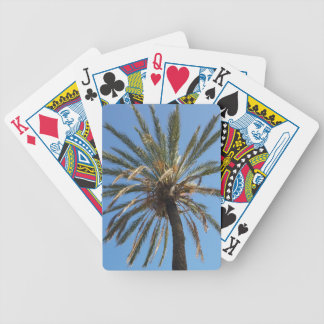crown of a palm tree bicycle playing cards