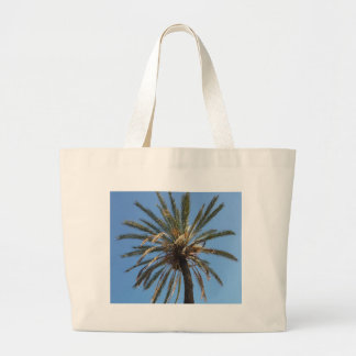 crown of a palm tree large tote bag