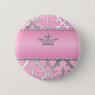 Crown of Glory Damask Diamond Gifts 2 Inch Round Button
