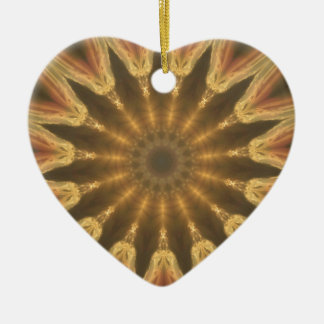 Crown of gold ceramic heart ornament