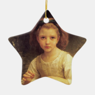Crown of grass flower ceramic star ornament