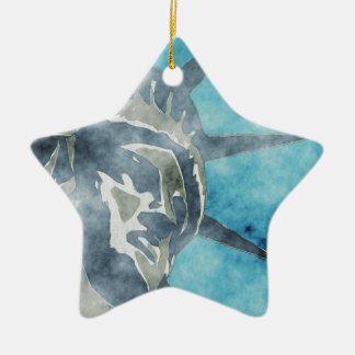 Crown of Liberty Ceramic Star Ornament