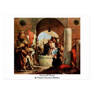Crown Of Thorns By Tiepolo Giovanni Battista Postcard