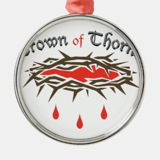 Crown of Thorns Silver-Colored Round Ornament