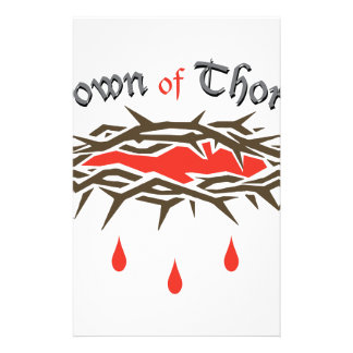 Crown of Thorns Stationery Paper