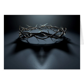 Crown Of Thorns With Royal Crown Shadow Card