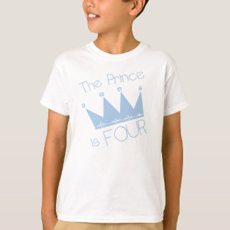 Crown Prince 4th Birthday T-Shirt