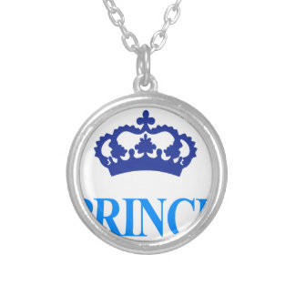 crown prince cool cute design silver plated necklace