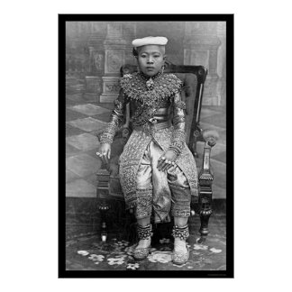 Crown Prince of Thailand 1894 Poster