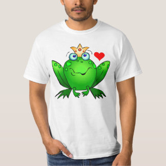 Crown Prince with Heart Cute Cartoon Frog T-Shirt