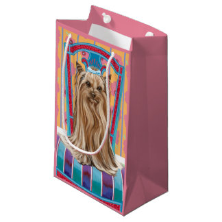 Crown Princess Yorkie Small Gift Bag