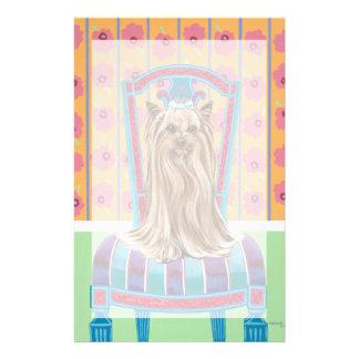 Crown Princess Yorkie Stationery Paper