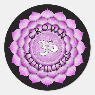 Crown Purple Chi Spirituality  Chakra Stickers