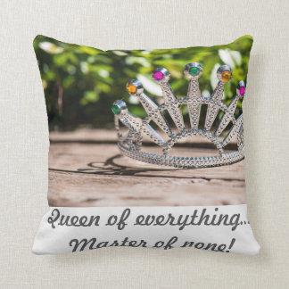 Crown Queen Throw Pillow