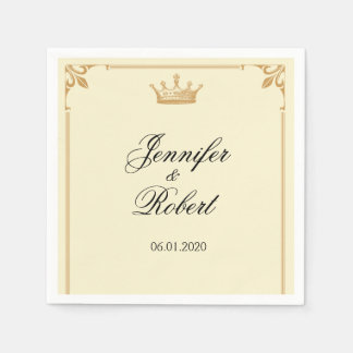 Crown Regency in Gold and Ivory Paper Napkin