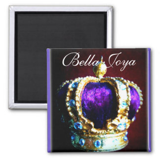 CROWN ROYALTY PURPLE VELVET  ON BLACK MAGNET