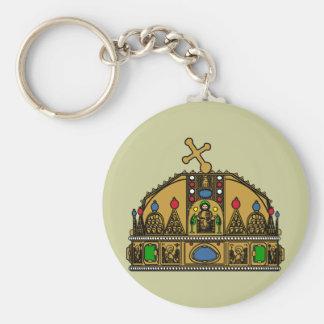Crown Saint Stephen, Hungary Keychain