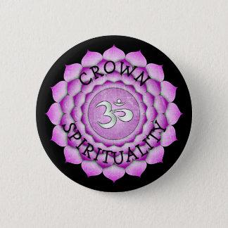 CROWN SPIRITUALITY PURPLE Chi Chakra Button