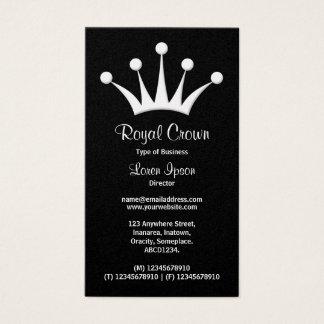 Crown Symbol - Black (Gold) Business Card